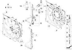 Cooling System Water Hoses additionally Fan Housing Mounting Parts further 2005 Volvo Xc90 Wiring Diagram moreover Rear Wheel Brake Brake Pad Sensor likewise  on bmw x3 fuel tank diagram