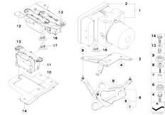 E81 118d N47 3 doors / Brakes Hydro Unit Dsc Fastening Sensors