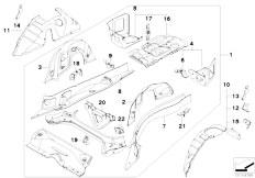 E90N 320i N43 Sedan / Bodywork Floor Parts Rear Exterior