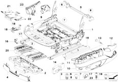 E91N 330i N53 Touring / Seats Front Seat Rail Electrical Single Parts