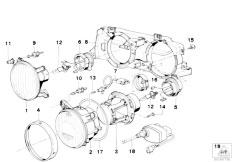 E32 740i M60 Sedan / Lighting Single Components For Headlight-2