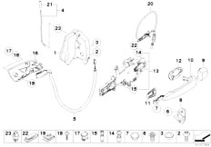E90N 320i N43 Sedan / Bodywork Door Control Rear