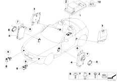 E85 Z4 2.0i N46 Roadster / Audio Navigation Electronic Systems Electric Parts Airbag