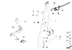 E92 335i N54 Coupe / Restraint System And Accessories Safety Belt Front