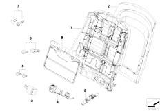 E83 X3 2.0d M47N2 SAV / Seats/  Front Seat Backrest Frame Rear Panel