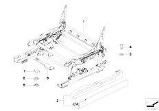 E83 X3 2.0d M47N2 SAV / Seats/  Front Seat Rail Mechanical Single Parts