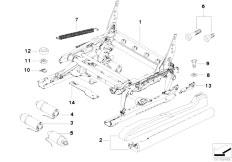E83 X3 2.0d M47N2 SAV / Seats/  Front Seat Rail Electrical Single Parts
