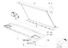 E34 525td M51 Sedan / Vehicle Trim Rear Window Shelf Sun Blind Electr