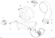 E38 L7 M73N Sedan / Engine Electrical System Alternator Parts 140a