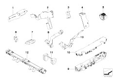 E92 325xi N52N Coupe / Engine Electrical System Cable Harness Fixings-2