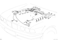 original parts for e39 525d m57 touring / engine electrical system, Wiring diagram