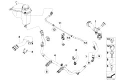 E90N 320i N43 Sedan / Radiator Cooling System Water Hoses