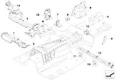 E90N 320i N43 Sedan / Bodywork Partition Trunk Floor Parts