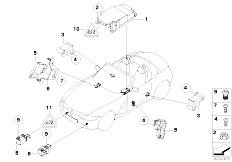 E85 Z4 2.0i N46 Roadster / Audio Navigation Electronic Systems Electric Parts Airbag-2