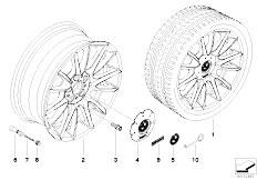 E92 323i N52N Coupe / Wheels Bmw La Wheel Individual V Spoke 228