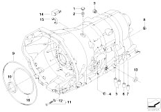 E63 645Ci N62 Coupe / Automatic Transmission Ga6hp26z Housing With Mounting Parts