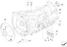 E91 335xi N54 Touring / Automatic Transmission Ga6hp19 Housing Attachment Parts Awd