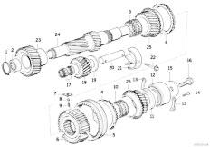 E39 523i M52 Touring / Manual Transmission S5d Z Countershaft Reverse Gear