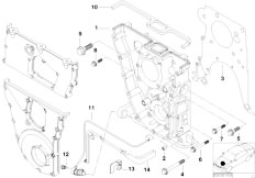 E30 318is M42 2 doors / Engine/  Timing Case