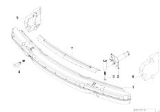 E38 740i M62 Sedan / Vehicle Trim/  Carrier Bumper Front