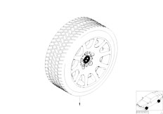 E38 750iL M73N Sedan / Wheels/  Winter Complete Wheel Ellips Styl 60