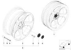 E38 750iL M73N Sedan / Wheels/  Bmw La Wheel Star Spoke 69