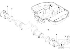 Original Parts for E39    M5    S62 Sedan  Fuel Preparation System Throttle Housing Assembly