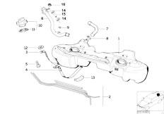 E36 325i M50 Cabrio / Fuel Supply Plastic Fuel Tank