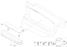 E46 M3 S54 Coupe / Vehicle Trim/  Armrest Rear