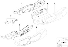 E83 X3 2.0d M47N2 SAV / Seats/  Single Parts Of Front Seat Controls