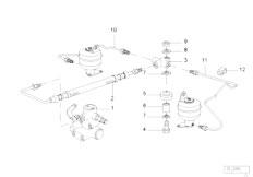 E38 750iLS M73 Sedan / Rear Axle Levelling Device Tubing Rear