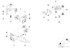 E39 528i M52 Sedan / Rear Axle/  Headlight Vertical Aim Control Sensor