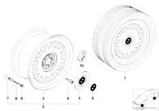 E38 750iL M73N Sedan / Wheels/  Bmw Styling Styl 6