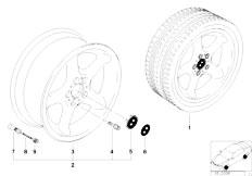 E38 750iL M73N Sedan / Wheels/  Round Spoke Styling Styl 18