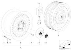 E38 750iL M73N Sedan / Wheels/  Cross Spoke Composite Wheel Styl 5
