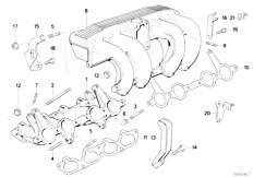 E30 318is M42 2 doors / Engine/  Intake Manifold System