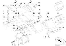 E38 750iLS M73N Sedan / Vehicle Trim/  Wood Bottom Panel Of Center Console