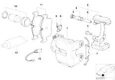 E46 316ti N42 Compact / Brakes/  Front Wheel Brake Brake Pad Sensor
