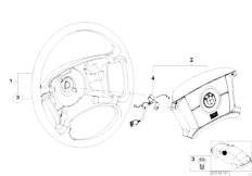 E46 316ti N42 Compact / Steering/  Steering Wheel Airbag Smart
