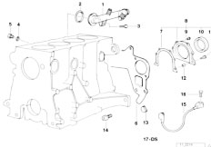E30 318is M42 2 doors / Engine/  Engine Block Mounting Parts