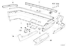 E34 525td M51 Sedan / Vehicle Trim Bumper Trim Panel Rear