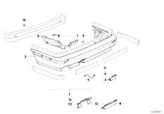 E34 525td M51 Sedan / Vehicle Trim Rear Bumper Trim Panel M Technic