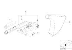 E46 316ti N42 Compact / Brakes/  Handbrake Lever-2