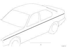 E34 525td M51 Sedan / Vehicle Trim Ornamental Strips