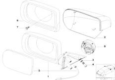 E38 750iLS M73N Sedan / Vehicle Trim/  Outside Mirror Intercom System Matt