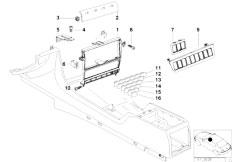 E38 750iLS M73N Sedan / Vehicle Trim/  Instrument Panel Of Center Console