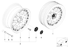 E38 750iL M73N Sedan / Wheels/  Bmw Composite Wheel Y Spoke 80