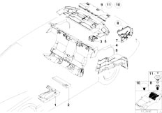 E38 750iLS M73N Sedan / Vehicle Trim/  Sound Insulating Rear