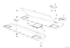 E34 525td M51 Sedan / Vehicle Trim Rear Window Shelf Sun Blind
