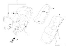 E30 318i M40 Cabrio / Universal Accessories Bmw Baby Seat 0